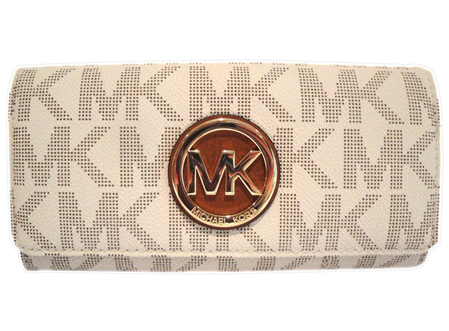 963ced03b5ee ... low cost michael kors womens fulton signature long continental clutch  wallet vanilla acor 40489 b5c8f