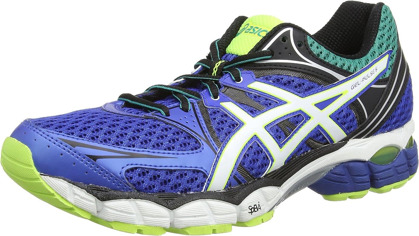 ASICS Gel-Pulse 6, Zapatillas de Running Hombre^Mujer, Azul (Blue/Snow/Flash Yellow 4200), 48 EU: Amazon.es: Zapatos y complementos