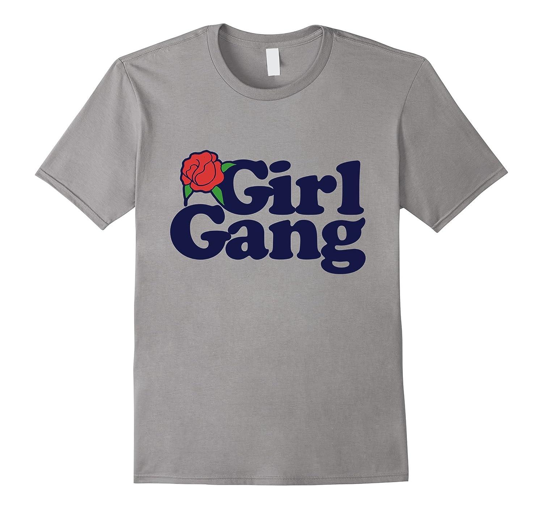 Girl Gang tshirt retro style feminist tshirt roses-Vaci