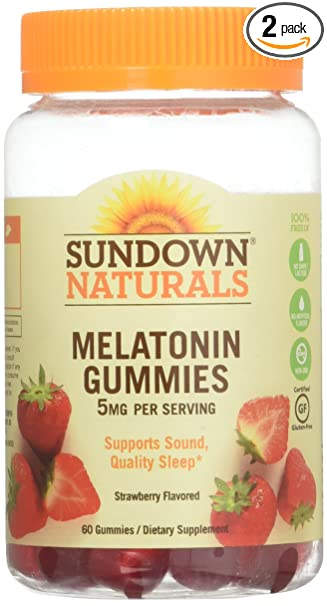 Amazon.com: SD Melatonina gomitas tamaño 60 ct Sundown ...