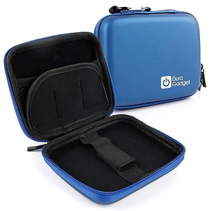 DURAGADGET Excelente Funda Rígida Azul para Proyector Apeman M9S - con Mini Mosquetón