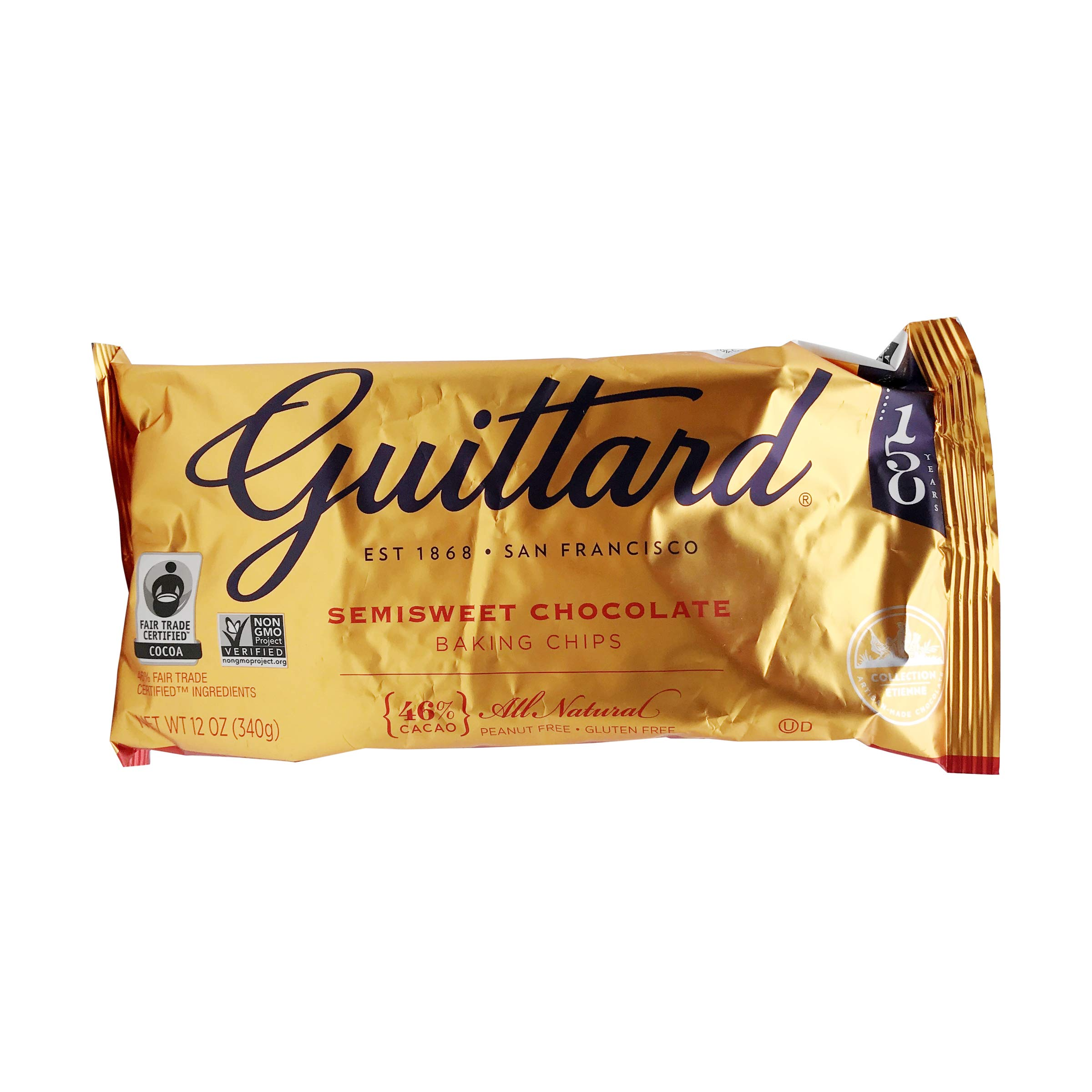 Guittard Baking Chips, Semi Sweet Chocolate, 12 oz
