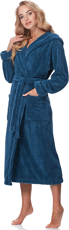 Merry Style Peignoir de Bain avec Capuche Robe de Chambre Femme 5L1