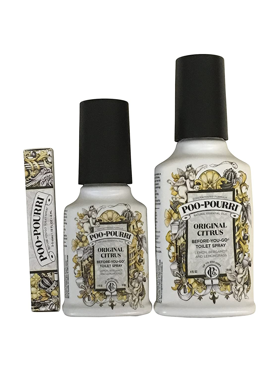 Poo-Pourri 3-piece Bathroom Deodorizer Set - Vanilla Mint SYNCHKG100543
