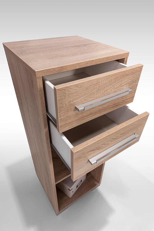 MAJA-Möbel 1224 5525 Aktenregal mit Schubladen, Sonoma-Eiche-Nachbildung, Abmessungen BxHxT    42,1 x 109,7 x 40 cm e79a9f