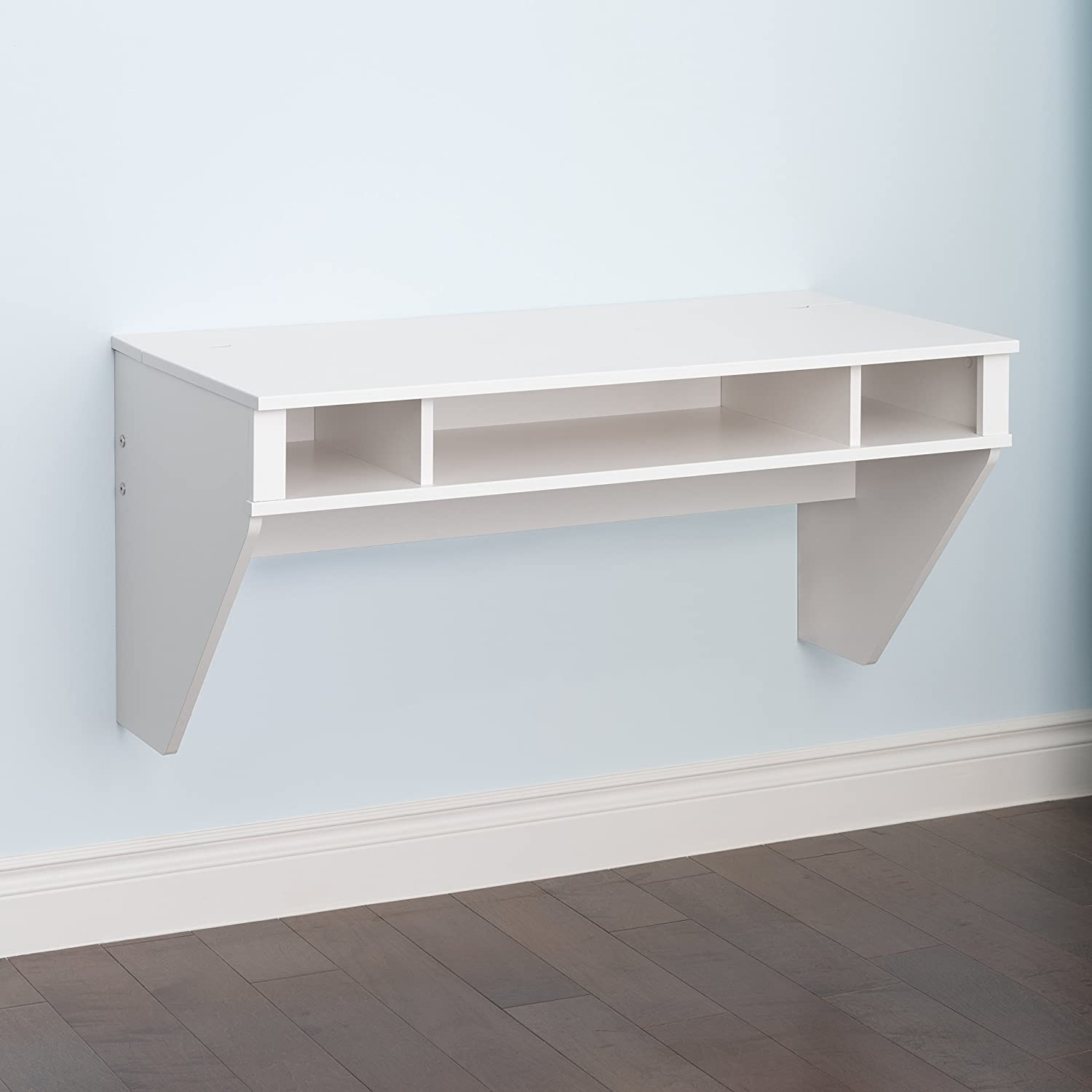 Exceptionnel Amazon.com: Prepac Wall Mounted Designer Floating Desk In White: Kitchen U0026  Dining