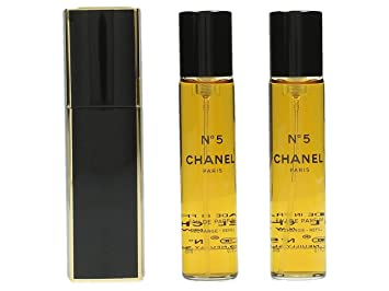 28bf6401d07c Amazon.com : Chanel No.5 Eau De Parfum Purse Spray And 2 Refills - No.5 -  3x20ml/0.7oz : Beauty