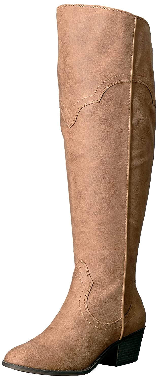 Fergalicious Women's Bata Wide Calf Western Boot B06XYY2M6P 6.5 B(M) US|Sand