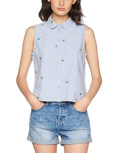 Only Onlally S/L Shirt Wvn, Blusa para Mujer