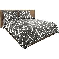 Utopia Bedding Printed Duvet Cover Set (King, Grey)