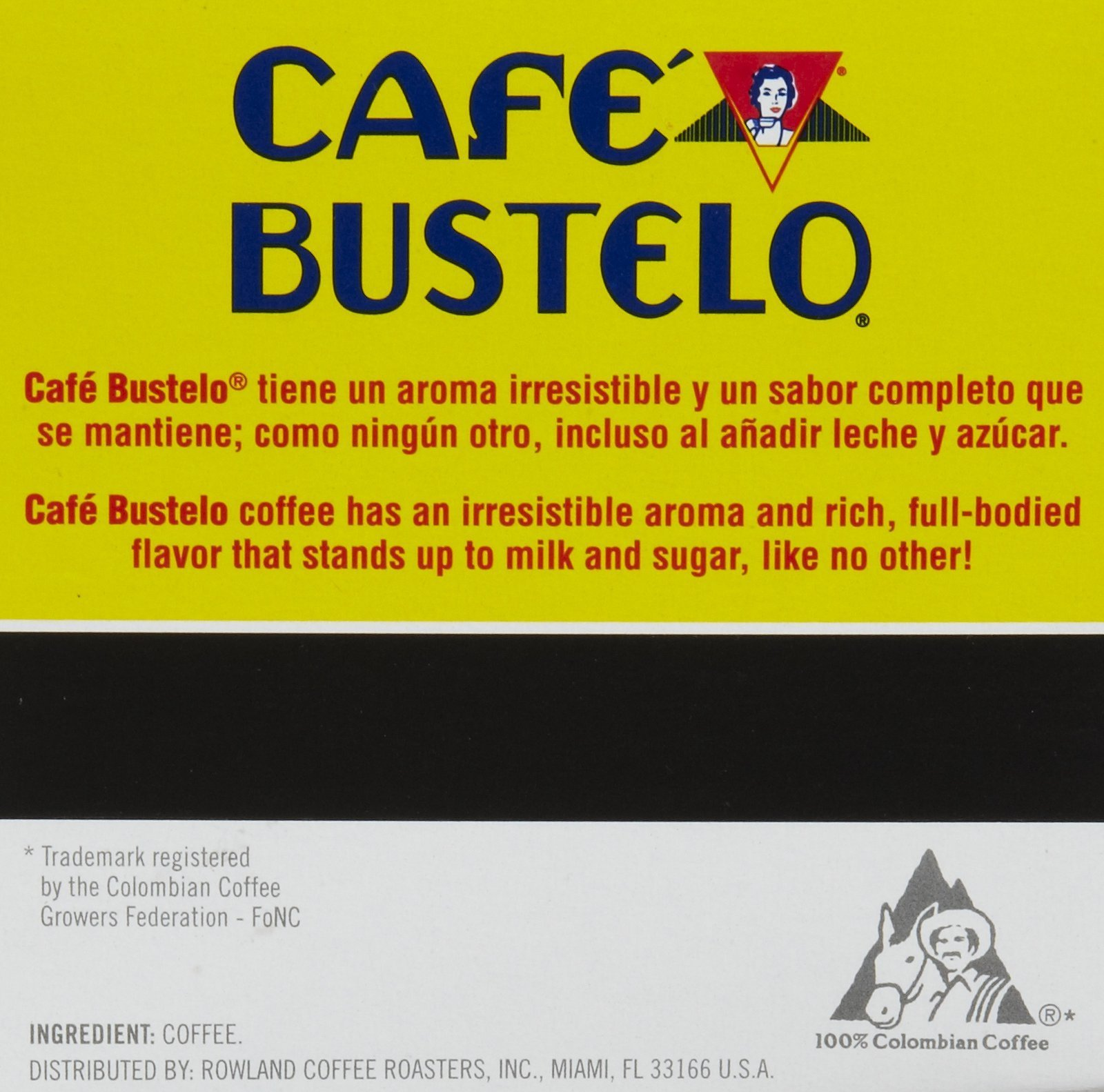 Café Bustelo 100 % Colombian Coffee 96 K Cup Packs