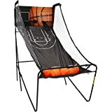 Sunnydaze Folding Indoor 2-Player Arcade Basketball Game with Electronic Scorer and 8 Game Modes, 81-Inch x 76-Inch