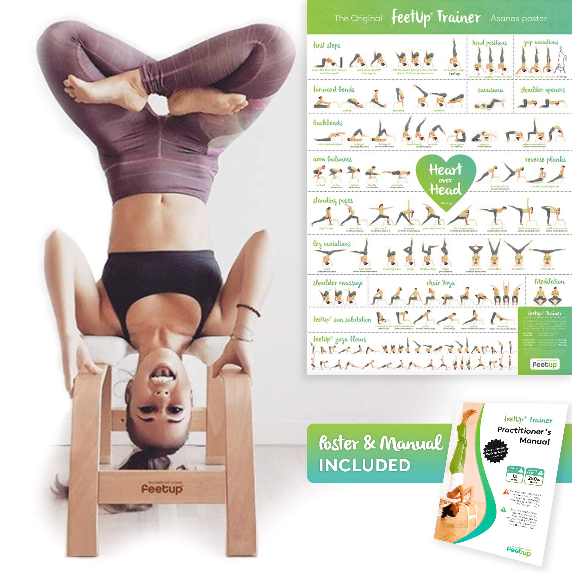 FeetUp Trainer (The Original) - Invert Safely & Easily. Get Fit. Relax. Turn Your Yoga Upside Down! (Classic, Black)