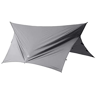 go outfitters apex camping shelter hammock tarp slate gray amazon     go outfitters apex camping shelter hammock tarp      rh   amazon