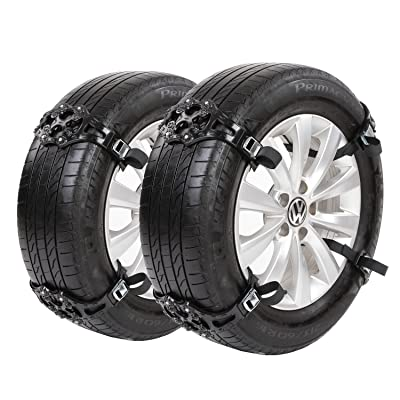 Sanku 2020 Upgraded Snow Tire Chains,Fits for Most Car/SUV/Truck-Set of 8 (Black): Automotive