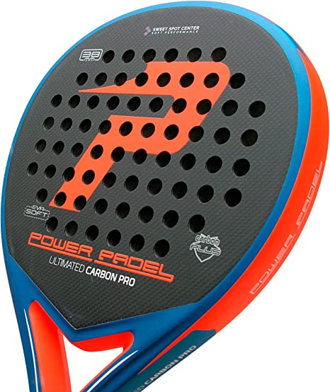 Pala Power Padel Ultimated Carbon Pro Orange / Blue Mate: Amazon ...