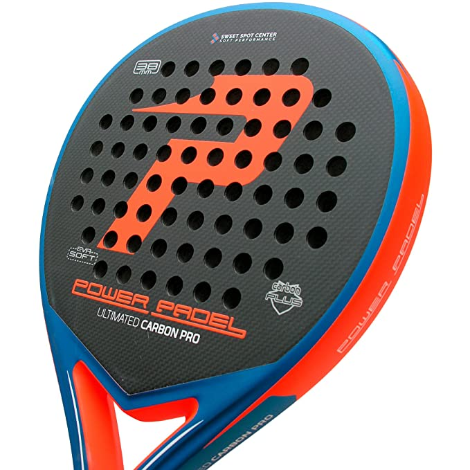 Pala Power Padel Ultimated Carbon Pro Orange / Blue Mate ...