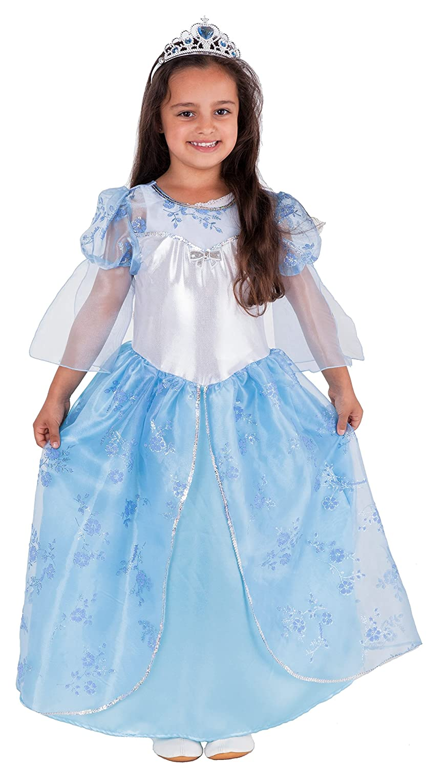 b047e6994288e Winter Fairy Tale Princess Costume for Kids blue Frozen Complete with  Tiara/Crown Snow Princess Fancy Dress Costume Girls Queen Princess Dress  for Girls ...