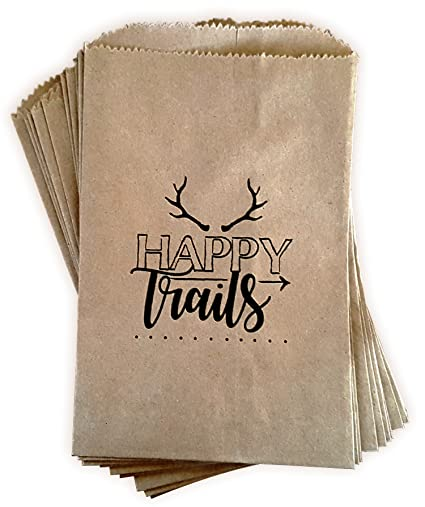 Amazon Com Kraft Paper Rustic Treat Bags Trail Mix Favor Bags