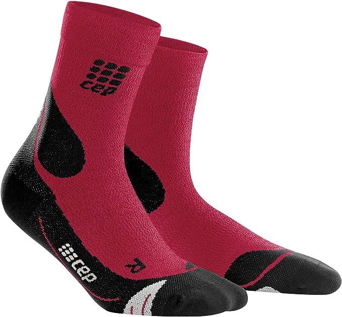 CEP Womens Outdoor Compression Light Merino Crew Cut Socks