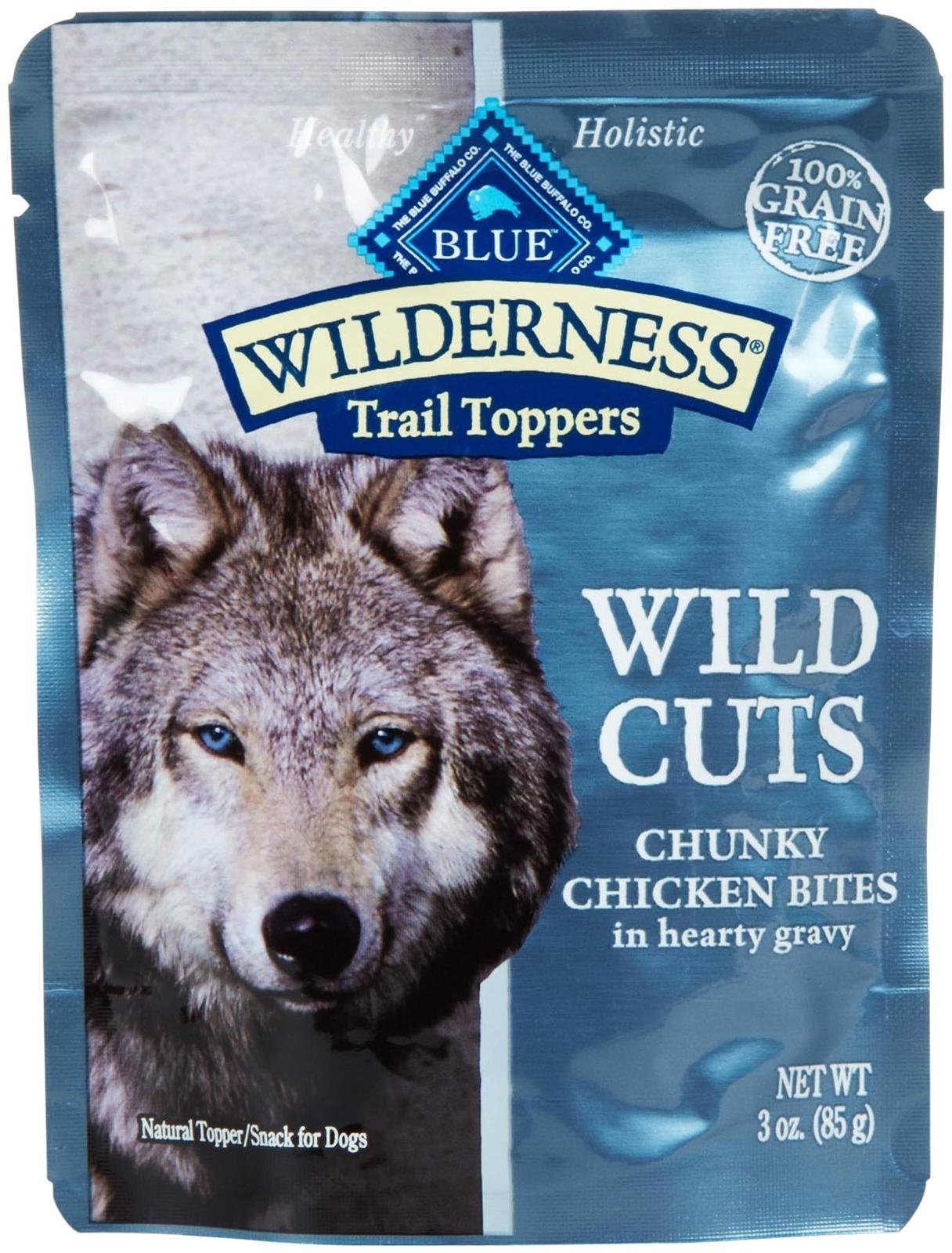 Blue Buffalo Wilderness Trail Toppers Chunky Chicken Bites Dog Food, 24 By 3 Oz. by Blue Buffalo