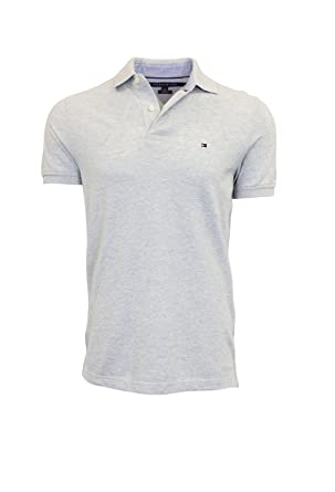 Tommy Hilfiger Men\u0027s Slim Fit Polo Shirt (X-Small, Gray)