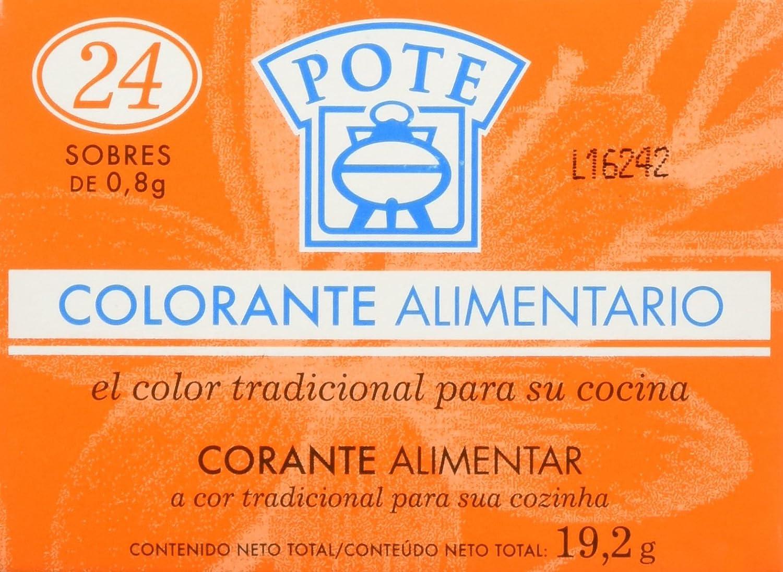 Pote Colorante Alimentario - Pack de 24 x 0.8 g - Total: 19.2 g ...