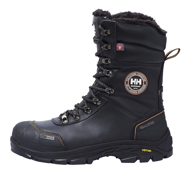gef/ütterte schwarz 78301 isolierende Arbeitsstiefel Helly Hansen Workwear Winter Sicherheitsstiefel S3 Chelsea Winterboot HT 78301 Gr/ö/ße 40