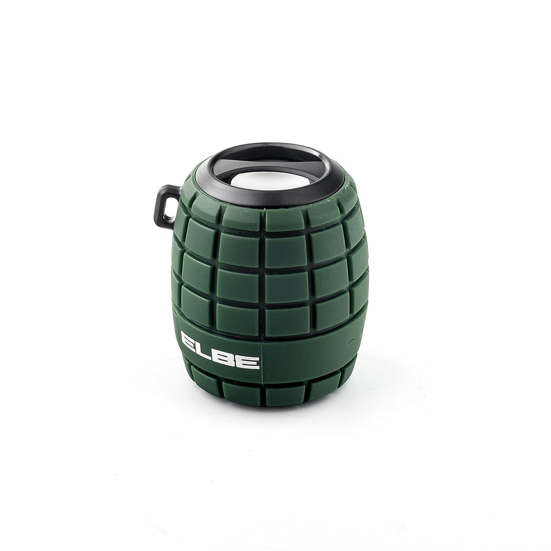 con forma de granada Aux-In color rojo Elbe ALT-44WR-BT Altavoz Bluetooth