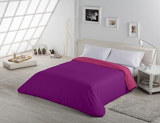 ESTELA - Funda nórdica Reversible Combi Liso Bicolor - Color ...