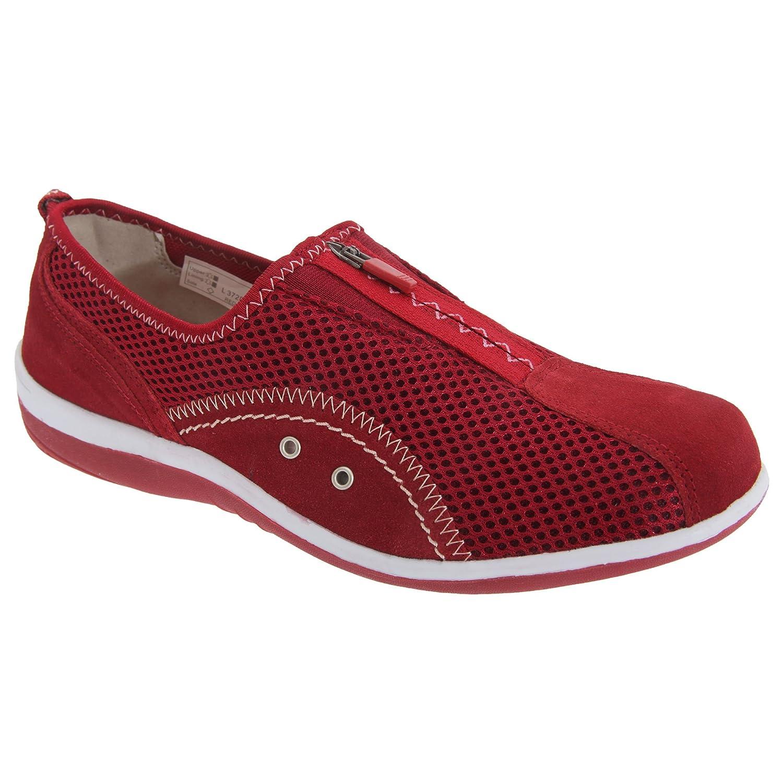 d9f96f6e68ad Boulevard Womens Ladies Zip Elastic Gusset Leisure Shoes  Amazon.co.uk   Shoes   Bags