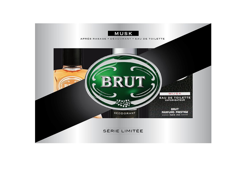 Brut Coffret Musk Eau de Toilette 100 ml + Déodorant 200 ml + Après Rasage 100 ml