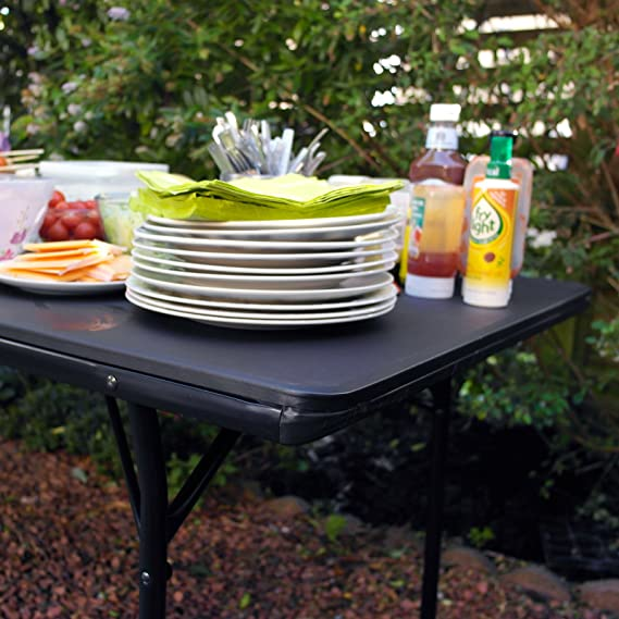 Heavy Duty 6 pies plegable caballete mesa para barbacoa Picnic Catering mercado Camping DIY: Amazon.es: Hogar
