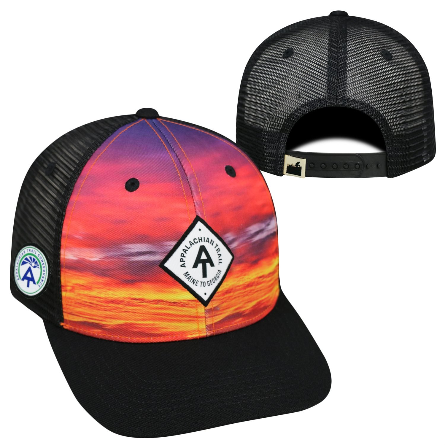 ec647353f8f Amazon.com  Top of the World Appalachian Trail Conservancy Official  Adjustable Skyline 1 Hat Cap Mesh Flat Bill 318790  Sports   Outdoors