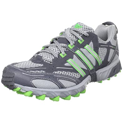 new style 79d54 a1768 adidas Men s Kanadia TR 3 Trail Running Shoe,Silver Intense Green Deepest  Space