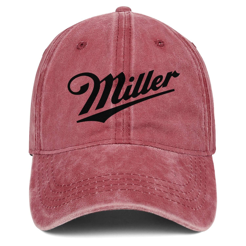 Men Unisex Adjustable Miller-Brewing-Company-High-Life-Beer-Champagne-Bottle-Baseball Cap Dad Flat Hat
