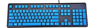 LEZE - Ultra Thin Keyboard Cover for Dell KB212-B / KB4021 Keyboard - Blue