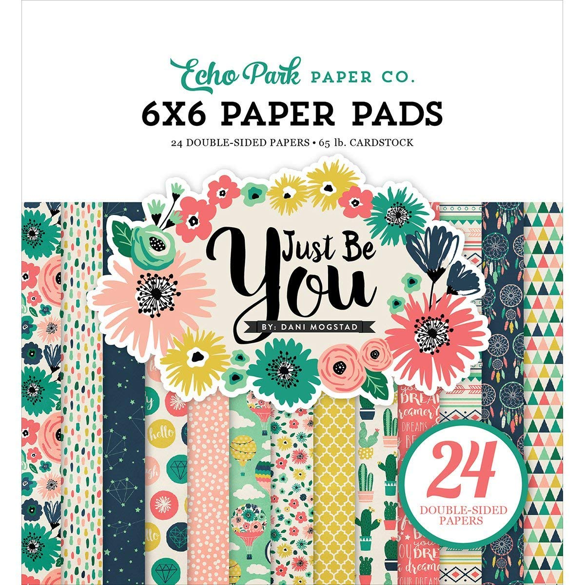Echo Park Paper Company JBY119023 Just Be You Paper Pad, 6 x 6
