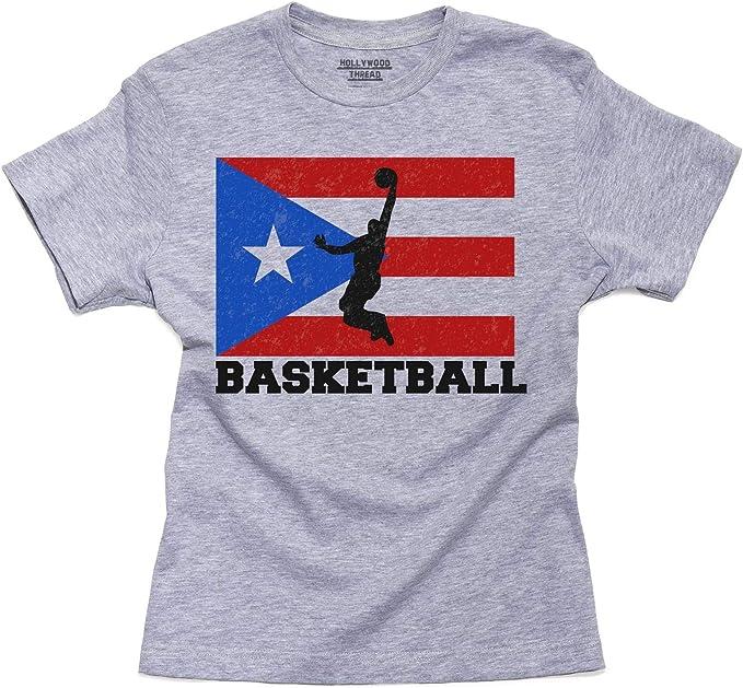 Bandera de Puerto Rico – olímpicos baloncesto – jóvenes de algodón ...