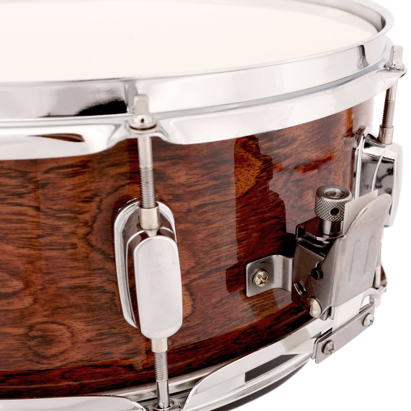 LAGRIMA Student Beginner Snare Drum W/Drum Key, Drumsticks and Strap|14x5.5 inch|Real Wood Shell|8 Metal Tuning Lugs by LAGRIMA (Image #7)