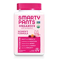 Daily Organic Gummy Women's Multivitamin: Probiotic, Vitamin C, D3 & Zinc for Immunity...