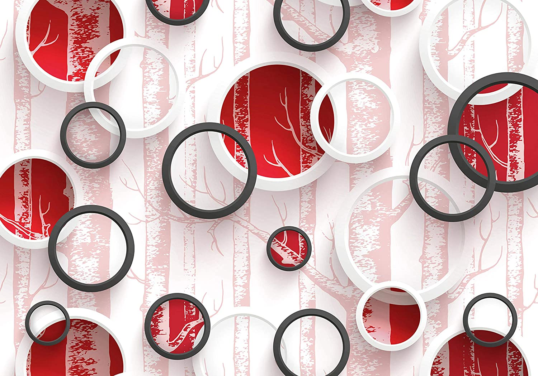 Wandmotiv24 Fototapete Grau Grau Grau Baum Kreise Ringe Abstrakt Wald Zweige M4065 XXL 400 x 280 cm - 8 Teile Wandbild - Motivtapete B07NF53QQV Wandtattoos & Wandbilder d20d39
