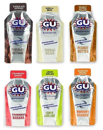 Amazon.com  GU Energy Gel - 6 Flavor Variety Pack (6 x 1.1oz Packs ... 9f8cac6a8