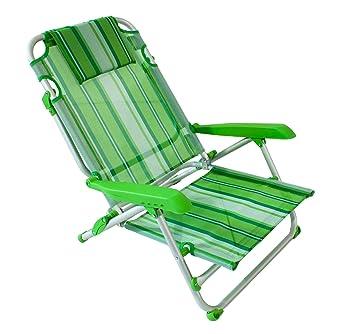 Positions Pliante Plage Chaise Avec En Aluminium De 4 A5Rjq3L4
