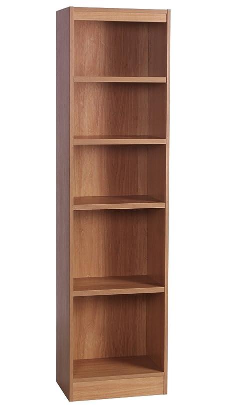 Home Office Furniture UK Tall Narrow Bookcase Bookshelf Files Cabinet  Wood   Classic Oak. Home Office Furniture UK Tall Narrow Bookcase Bookshelf Files