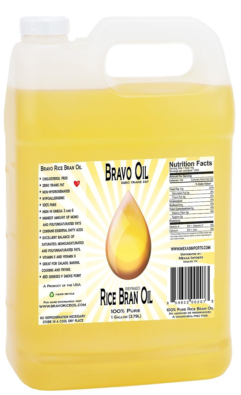 amazon com bravo oil rice bran oil 1 gallon best value made