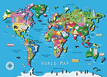 Map Of Canada Puzzle.Ravensburger World Map Puzzle 60 Piece