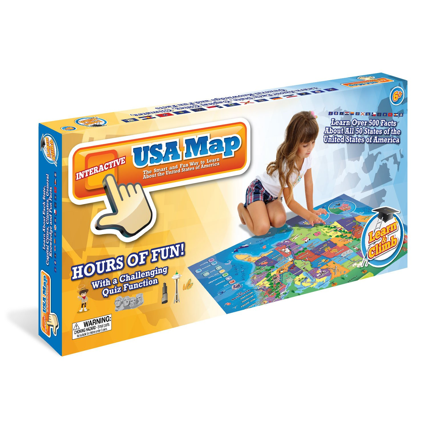 Amazoncom Electronic Kids Map Of The United States - Interactive motorcycle map of the us
