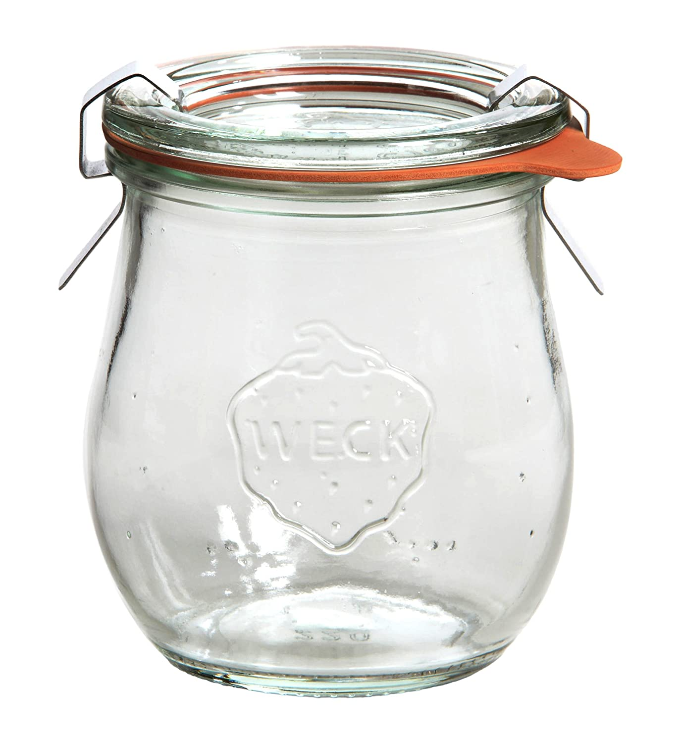 with Lid 60 mm Complete with Seal and Clips Weck Clear Glass Tulip Jar 220 ml Pack of 12