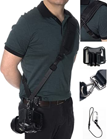 Black Single Shoulder Sling Belt Strap for Nikon D7000